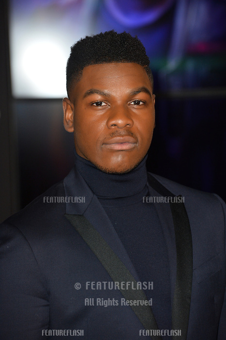 "John Boyega at the world premiere for ""Star Wars: The Last Jedi"" at the Shrine Auditorium. Los Angeles, USA 09 December  2017<br /> Picture: Paul Smith/Featureflash/SilverHub 0208 004 5359 sales@silverhubmedia.com"