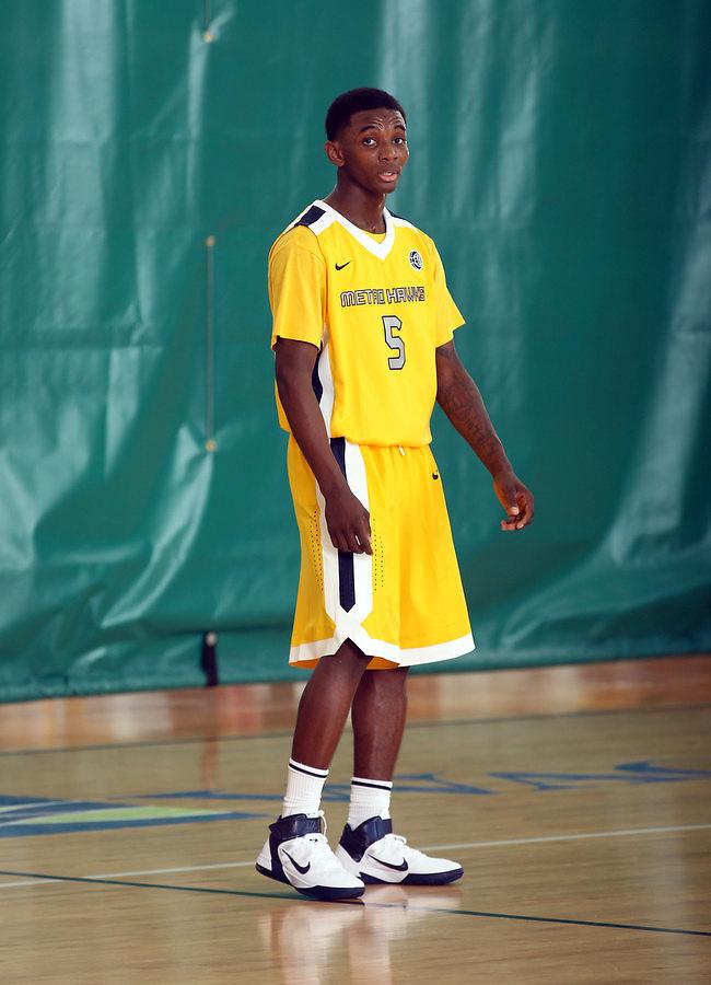 April 8, 2011 - Hampton, VA. USA; Jevon Thomas participates in the 2011 Elite Youth Basketball League at the Boo Williams Sports Complex. Photo/Andrew Shurtleff