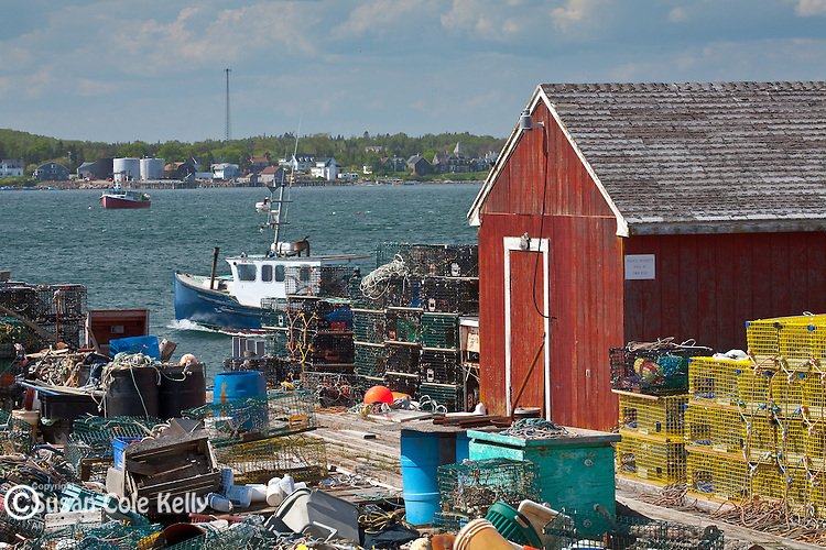 The fishing village of Beals Island in Jonesport, Downeast, ME, USA