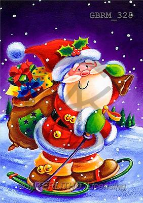 Roger, CHRISTMAS SANTA, SNOWMAN, paintings(GBRM328,#X#) Weihnachtsmänner, Schneemänner, Weihnachen, Papá Noel, muñecos de nieve, Navidad, illustrations, pinturas