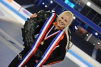 SCHAATSEN: HEERENVEEN: 05-02-2017, KPN NK Junioren, Junioren B, kampioene Rachelle van de Griek, ©foto Martin de Jong