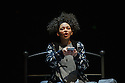 "London, UK. 01.12.2015. ""wonder.land"", a new musical inspired by Lewis Carroll's ""Alice in Wonderland"", created by Damon Albarn, Moira Buffini and Rufus Norris, opens at the National Theatre, in the Olivier. Picture shows: Lois Chimimba (Aly). Photograph © Jane Hobson."