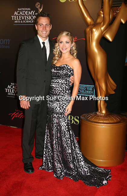 Young and Restless Marcy Rylan and hubby Don Money - Red Carpet - 37th Annual Daytime Emmy Awards on June 27, 2010 at Las Vegas Hilton, Las Vegas, Nevada, USA. (Photo by Sue Coflin/Max Photos)