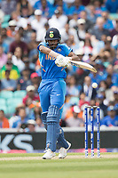 Hardik Pandya (India) pulls through mid wicket during India vs Australia, ICC World Cup Cricket at The Oval on 9th June 2019