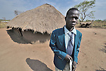 The United Methodist pastor outside his church sanctuary in Logo, a small village in Southern Sudan's Central Equatoria State. NOTE: In July 2011, Southern Sudan became the independent country of South Sudan