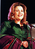 Renee Fleming, an internationally acclaimed soprano, sings at the Opening Ceremony for the 1999 Christmas Pageant of Peace on the Ellipse in Washington, DC on December 8, 1999..Credit: Ron Sachs / CNP