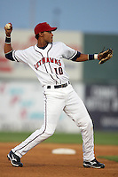 April 17, 2010: Ebert Rosario of the Lancaster JetHawks during game against the Rancho Cucamonga Quakes at Clear Channel Stadium in Lancaster,CA.  Photo by Larry Goren/Four Seam Images