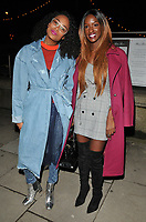 Annaliese Dayes and Sarah Mulindwa at the Mark Hill haircare brand launch party ahead of the International Woman's Day, MV Hispaniola, Victoria Embankment, London, England, UK, on Wednesday 07 March 2018.<br /> CAP/CAN<br /> &copy;CAN/Capital Pictures
