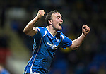 St Johnstone v Inverness Caley Thistle&hellip;09.03.16  SPFL McDiarmid Park, Perth<br />Chris Kane celebrates his goal<br />Picture by Graeme Hart.<br />Copyright Perthshire Picture Agency<br />Tel: 01738 623350  Mobile: 07990 594431