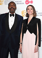 Sir Lenny Henry and Suranne Jones at the Virgin Media BAFTA Television Awards 2019 - Press Room at The Royal Festival Hall, London on May 12th 2019<br /> CAP/ROS<br /> ©ROS/Capital Pictures