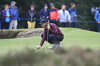 Tommy Fleetwood (ENG) on the 12th green during Round 1of the Sky Sports British Masters at Walton Heath Golf Club in Tadworth, Surrey, England on Thursday 11th Oct 2018.<br /> Picture:  Thos Caffrey | Golffile<br /> <br /> All photo usage must carry mandatory copyright credit (© Golffile | Thos Caffrey)