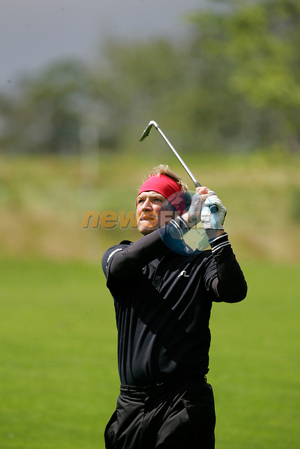 Day 2 of the Smurfit Kappa European Open in the K Club in Straffin Co Kildare Ireland. 6/7/07.Pelle Edberg playing the 9th Hols there final hole of the round(18)..Photo: Newsfile/Fran Caffrey.