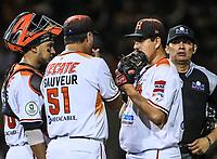 Cesar Vargas pitcher de Naranjeros, durante la apertura de la temporada de beisbol de la Liga Mexicana del Pacifico 2017 2018 con el partido entre Naranjeros vs Yaquis. 11 octubre2017 . <br /> (Foto: Luis Gutierrez /NortePhoto.com)