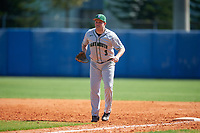 Dartmouth Big Green first baseman Michael Calamari (3) during a game against the Bradley Braves on March 21, 2019 at Chain of Lakes Stadium in Winter Haven, Florida.  Bradley defeated Dartmouth 6-3.  (Mike Janes/Four Seam Images)