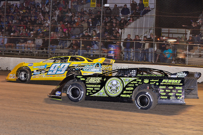 Feb 22, 2014; 9:48:52 PM;  Barberville, FL, USA;  World of Outlaws Late Model Series for 43rd Annual DIRTcar Nationals presented by Summit Racing Equipment at Volusia Speedway Park.  Mandatory Credit: (thesportswire.net)