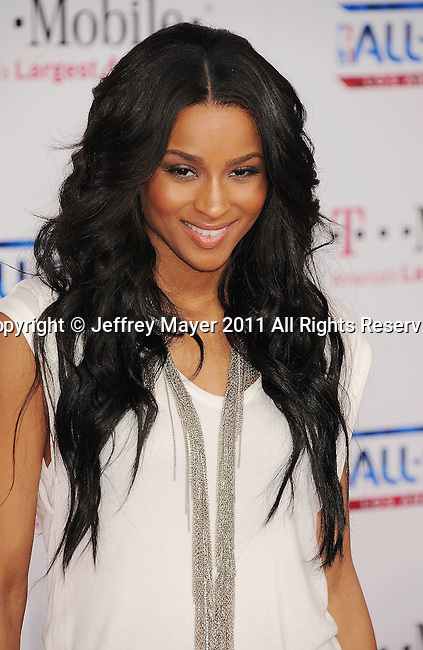 LOS ANGELES, CA - FEBRUARY 20: Ciara arrives at the T-Mobile Magenta Carpet at the 2011 NBA All-Star Game at L.A. Live on February 20, 2011 in Los Angeles, California.