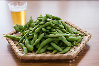Edamame and beer.