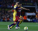 23.04.2016 Barcelona. Liga BBVA day 35. Picture show Dani Alvesl in action during game between FC Barcelona against Real Sporting at Camp nou