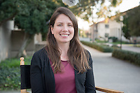 Amanda Zellmer, Assistant Professor, Biology<br /> Photographed Jan. 25, 2017 near the Academic Quad.<br /> (Photo by Marc Campos, Occidental College Photographer)