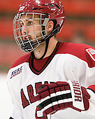 Danny Biega (Harvard - 9) - The Harvard University Crimson and Quinnipiac University Bobcats played to a 2-2 tie on Saturday, November 5, 2011, at Bright Hockey Center in Cambridge, Massachusetts.