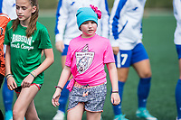 Boston, MA - Saturday July 01, 2017: Boston Breakers with specials guests in pre-games ceremonies during a regular season National Women's Soccer League (NWSL) match between the Boston Breakers and the Washington Spirit at Jordan Field.