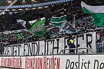 10.03.2019, HDI Arena, Hannover, GER, 1.FBL, Hannover 96 vs Bayer 04 Leverkusen<br /> <br /> DFL REGULATIONS PROHIBIT ANY USE OF PHOTOGRAPHS AS IMAGE SEQUENCES AND/OR QUASI-VIDEO.<br /> <br /> im Bild / picture shows<br /> Banner der Hannover 96 Ultras in der Nordkurve / Trib&uuml;ne vor Spielbeginn mit Schriftzug &quot;Zeigt endlich Eier!&quot;, <br /> <br /> Foto &copy; nordphoto / Ewert