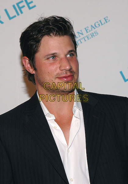 "NICK LACHEY.American Eagle Outfitters' ""Live Your Life Contest"" winners at the Union Square flagship store in Manhattan, New York, New York..July 27th, 2005  .Photo Credit: Patti Ouderkirk/AdMedia.headshot portrait.www.capitalpictures.com.sales@capitalpictures.com.© Capital Pictures."