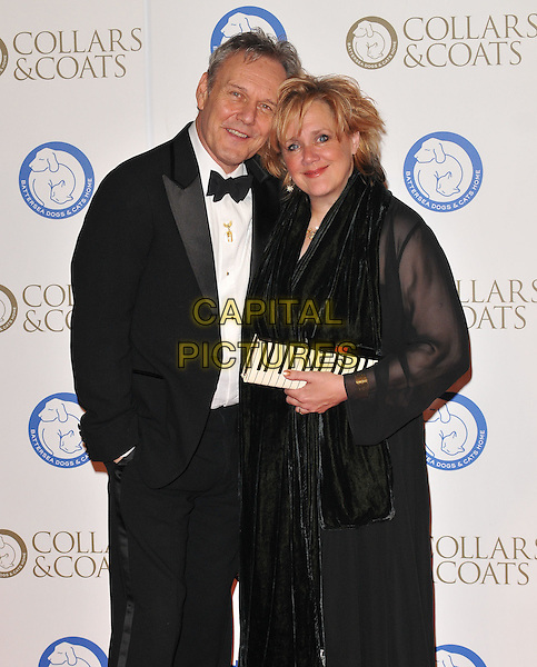 Anthony Head &amp; Sarah Fisher attend the Collars &amp; Coats Gala Ball 2015, Battersea Evolution, Battersea Park, London, England, UK, on Thursday 12 November 2015. <br /> CAP/CAN<br /> &copy;CAN/Capital Pictures