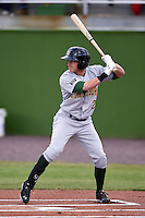 Lynchburg Hillcats outfielder Kyle Wren (2) at bat during a game against the Potomac Nationals on April 26, 2014 at Pfitzner Stadium in Woodbridge, Virginia.  Potomac defeated Lynchburg 6-2.  (Mike Janes/Four Seam Images)