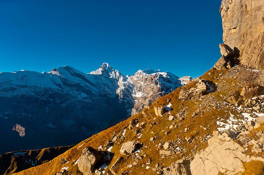 Swiss Alps near the Schilthorn, Canton Bern, Switzerland