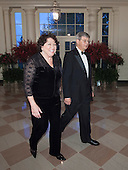 Associate Supreme Court Justice Sonia Sotomayor and John Koeltl arrive at the State Dinner for China's President President Xi and Madame Peng Liyuan at the White House in Washington, DC for an official State Visit Friday, September 25, 2015. Credit: Chris Kleponis / CNP