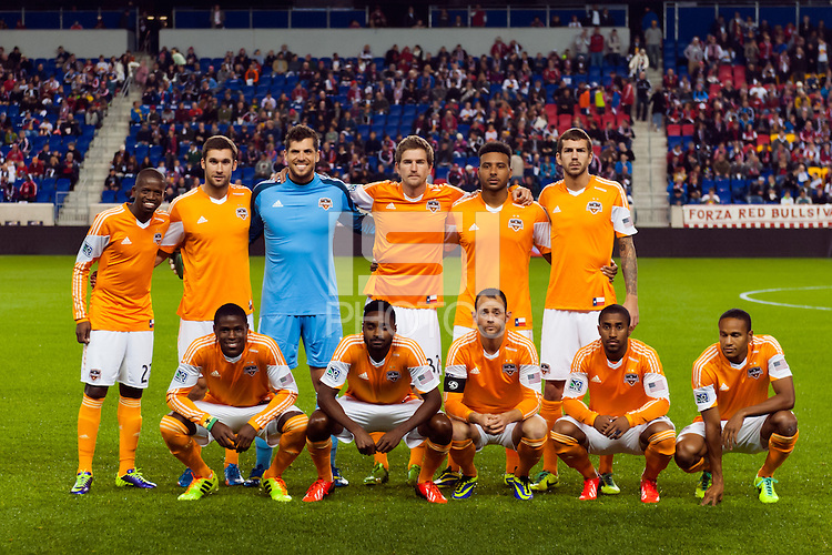 Houston Dynamo starting eleven. The Houston Dynamo defeated the New York Red Bulls 2-1 (4-3 on aggregate) in overtime of the second leg of the Major League Soccer (MLS) Eastern Conference Semifinals at Red Bull Arena in Harrison, NJ, on November 6, 2013.