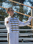 Palos Verdes, CA 10/24/14 - The Peninsula Band performs the national anthem before the start of their game against Redondo Union.