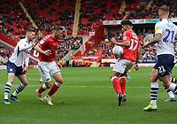 handball by Macauley Bonne of Charlton Athletic during Charlton Athletic vs Preston North End, Sky Bet EFL Championship Football at The Valley on 3rd November 2019