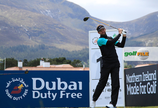 Scott Jamieson (SCO) on the 11th tee during Round 1 of the 2015 Dubai Duty Free Irish Open, Royal County Down Golf Club, Newcastle Co Down, Northern Ireland. 28/05/2015<br /> Picture Thos Caffrey, www.golffile.ie