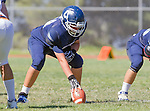 Palos Verdes, CA 09/24/16 - Nikhil Kathuria (Chadwick #64) in action during the non-conference CIF 8-Man Football  game between Rolling Hills Prep and Chadwick at Chadwick.