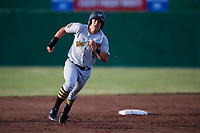 West Virginia Black Bears right fielder Brett Kinneman (5) runs the bases during a game against the Batavia Muckdogs on June 20, 2018 at Dwyer Stadium in Batavia, New York.  West Virginia defeated Batavia 4-3.  (Mike Janes/Four Seam Images)