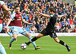 Crystal Palace's Yohan Cabaye and Burnley's Stephen Ward during the premier league match at the Turf Moor Stadium, Burnley. Picture date 10th September 2017. Picture credit should read: Paul Burrows/Sportimage