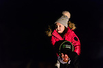 BETHLEHEM, CT. 07 December 2018-120718 - Natalie Vadney, 6, gets a great view of Santa from on top of her father Dave Vadney of Oakville, shoulders during the annual Christmastown Festival on the Town Green in Bethlehem on Friday. Bill Shettle Republican-American