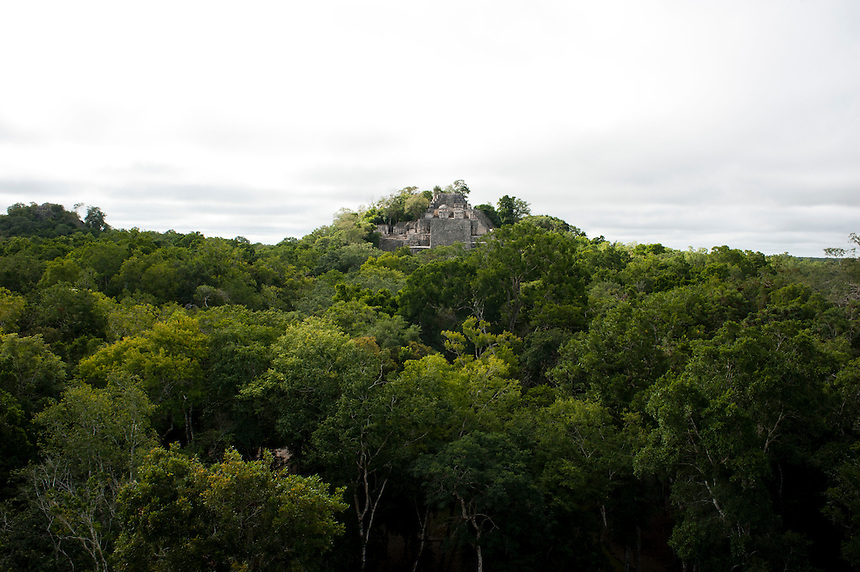 The Mayan ruins of Clakmul, Campeche, Mexico