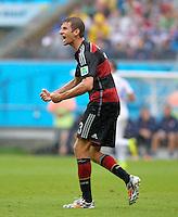 FUSSBALL WM 2014  VORRUNDE    GRUPPE G    in Recife USA - Deutschland                  26.06.2014 Thomas Mueller (Deutschland) emotional