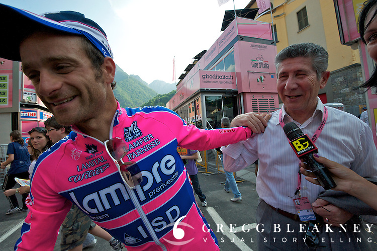 Pietro Santini with SMS sponsored team and rider Scarponi/Lampre