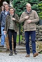 Prince William Duke of Cambridge and Kate Duchess of Cambridge Katherine Catherine Middleton during a visit to Deepdale Hall Farm, a traditional fell sheep farm, in Patterdale, Cumbria. Photo Credit: ALPR/AdMedia