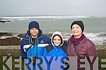 Xavier Baker, Sarah Leahy and Colette Leahy (all, Dingle) pictured at the Red Bull Wind Surfing event which took place at Maharees, Castlegregory on Monday last..