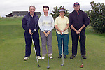 Willy, Mary, Mary P, and Paddy Kirk  taking part in the St Marys parish Golf Classic in Sea Point Golf Club...Picture Fran Caffrey Newsfile...This Picture is sent to you by:..Newsfile Ltd.The View, Millmount Abbey, Drogheda, Co Louth, Ireland..Tel: +353419871240.Fax: +353419871260.GSM: +353862500958.ISDN: +353419871010.email: pictures@newsfile.ie.www.newsfile.ie