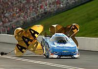 Jun 17, 2017; Bristol, TN, USA; NHRA funny car driver John Force during qualifying for the Thunder Valley Nationals at Bristol Dragway. Mandatory Credit: Mark J. Rebilas-USA TODAY Sports
