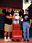 Arnold Schwarzenegger, Mickey Mouse and Sly Stallone.Attending the PLANET HOLLYWOOD ground breaking ceremony at Walt Disney World, Florida..November 19, 1993.