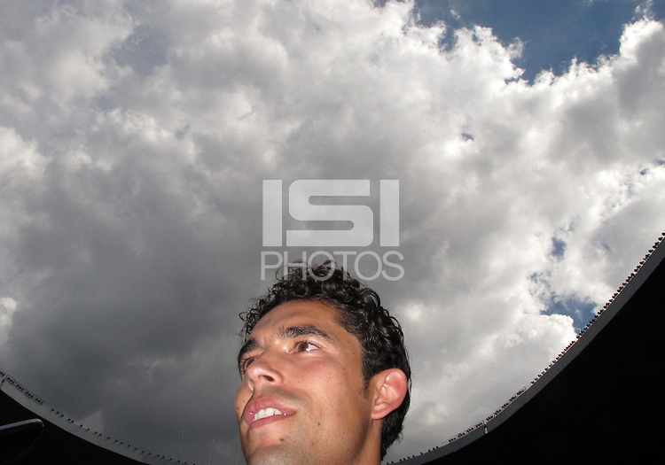 MEXICO CITY, MEXICO - AUGUST 15, 2012:  Herculez Gomez of the USA MNT talks to the press before an international friendly match against Mexico at Azteca Stadium, in Mexico City, Mexico on August 15.