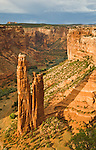 View of Spider Rock from Spider Rock Overlook in Canyon de Chelly