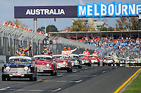 MELBOURNE, 27 MARCH - Images of the drivers' parade at the 2011 Formula One Australian Grand Prix at the Albert Park Circuit, Melbourne, Australia. (Photo Sydney Low / syd-low.com)